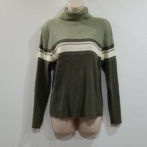 Fashion bug 14/16W green Turtle neck sweater